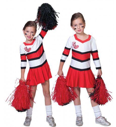 American Football Highschool Cheerleader Meisje Kostuum