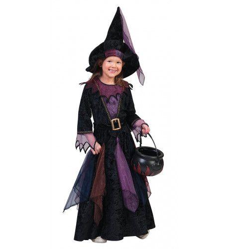 Purpuralla Toverspreuk Heks Meisje Kostuum