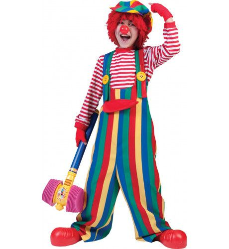 Strippy De Clown Overall Jongen Kostuum