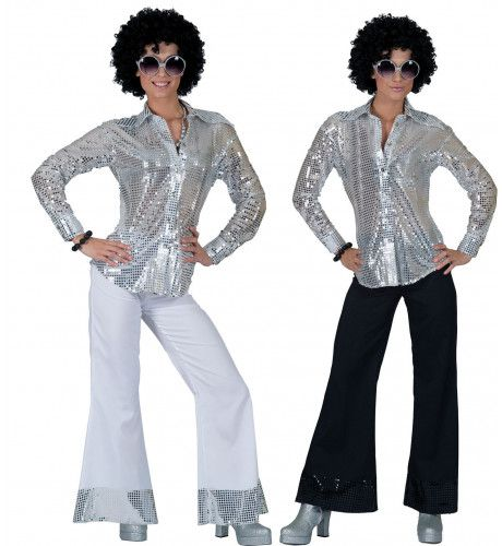 Locomotion Disco Hemd Vrouw Kostuum