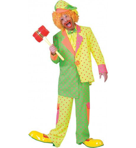 Clown Fluorino Man Kostuum