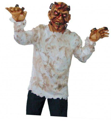 Horror Masker Scheermessen In Hoofd Man Kostuum