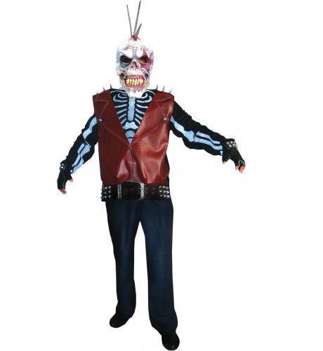 Punker Ghost Man Kostuum