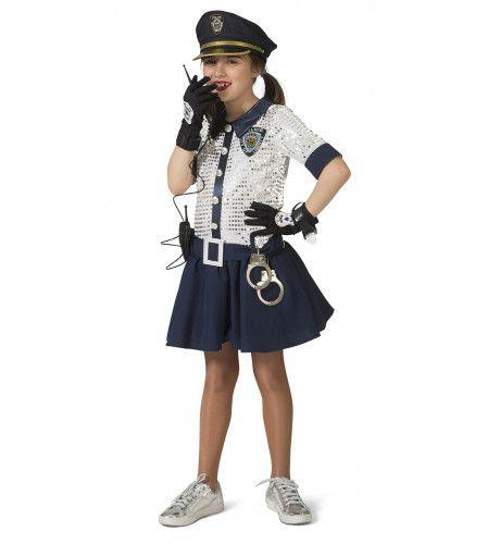 Hoofdinspecteur Van Politie Pailletten Meisje Kostuum