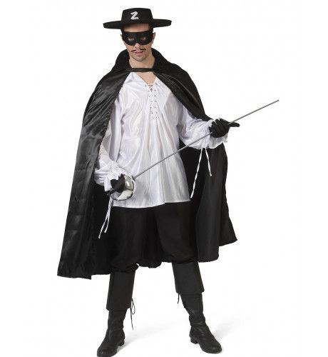 Zwarte Cape Mexicaanse Held Zorro Man