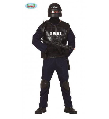 Klaar Voor Het Oproer Swat Poltie Agent Man Kostuum