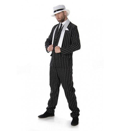 Gladde Ongeschoren Gangster Man Kostuum
