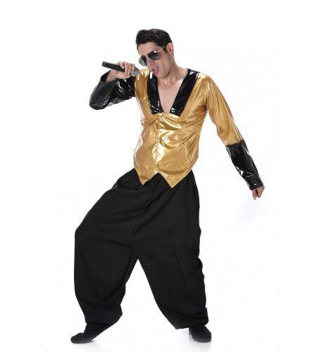 Mc Big Pants Rapper Man Kostuum