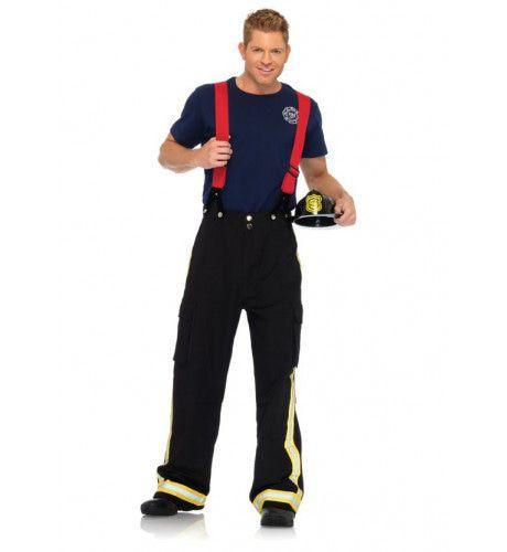 Verleidelijke Brandweerman Fire Hunk Kostuum