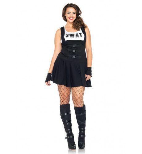 Sexy Dames Swat Kostuum (Plus Size) Vrouw