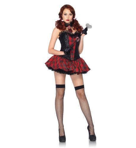 Sexy Schots Schoolmeisje Uniform Vrouw Kostuum