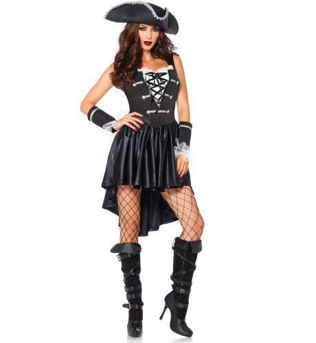 Sexy Spannende Zwarte Piratejurk Vrouw