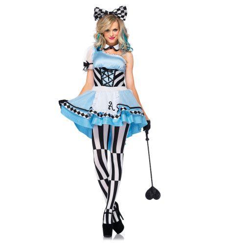 Pschychedelische Sexy Alice In Wonderland Vrouw Kostuum