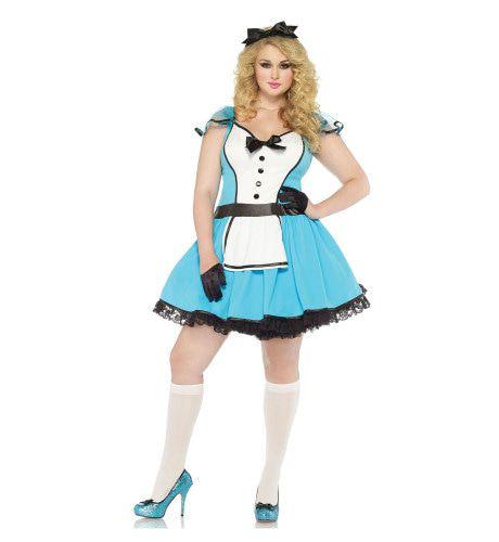 Sexy Alice In Wonderland Blauw Vrouw Kostuum