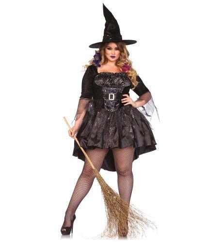 Zwarte Magische Dames Heks Ms Heksa (Plus Size) Vrouw Kostuum