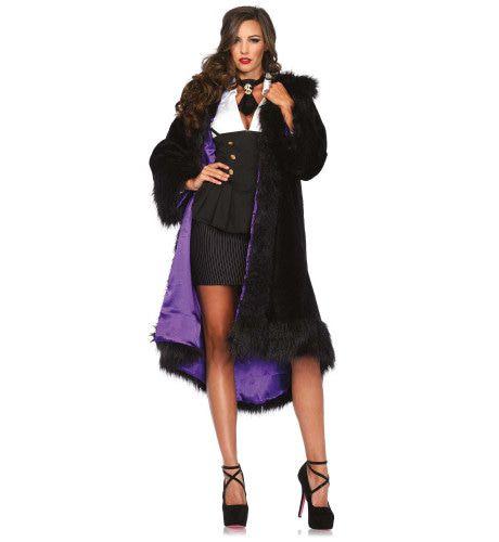 Royale Imitatie Bontjas Ms Diva Vrouw Kostuum
