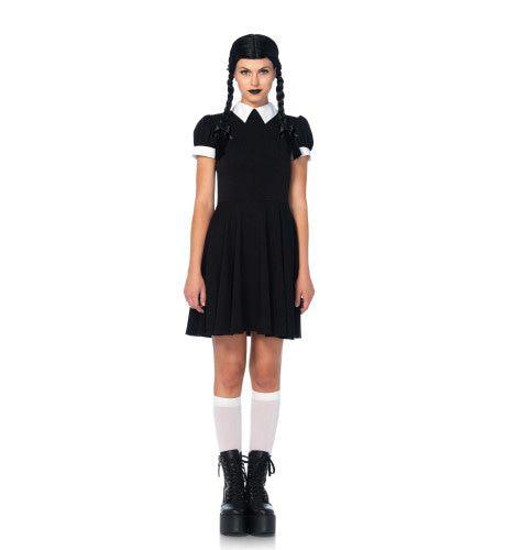 Gothic Schoolmeisje Vrouw Kostuum