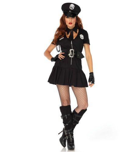 Hands Off Agente Vrouw Kostuum