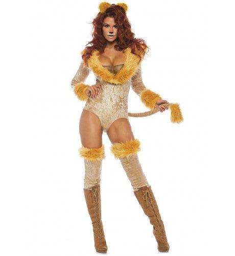 Leeuw Met Lange Staart Grrr Vrouw Kostuum