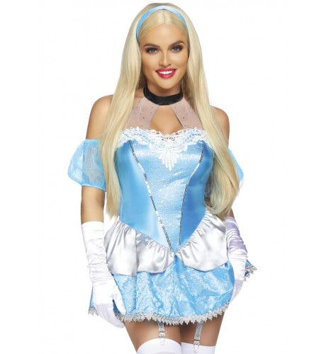 Sprookjesachtig Aantrekkelijke Assepoester Prinses Vrouw Kostuum