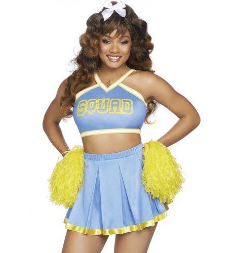 Blikvanger Naast Het Veld Sexy Cheerleader Vrouw Kostuum