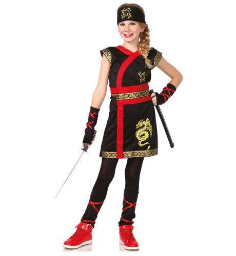 Kinder Ninja Strijder Samoerai Kostuum Meisje