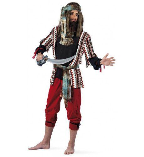 Onverschrokken Schatzoeker Avonturier Boekanier Bert Man Kostuum