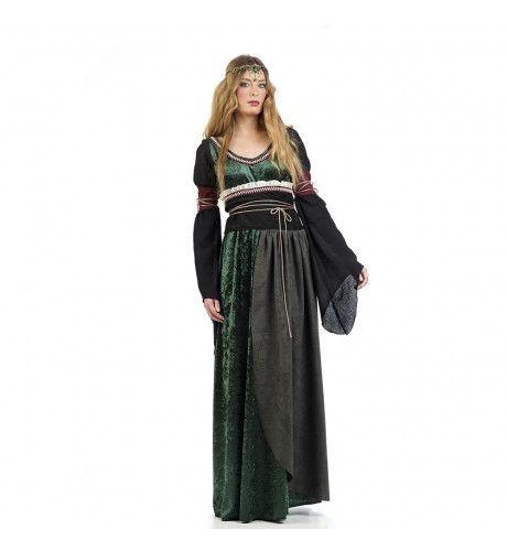 Burchtvrouwe Lousie Slot Loevenstein Kostuum