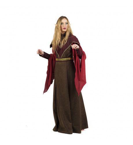 Bruin Kiara Keltische Druide Vrouw Kostuum