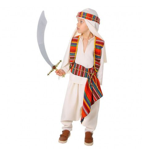 Berber Sjeik Ali El Hakman Jongen Kostuum