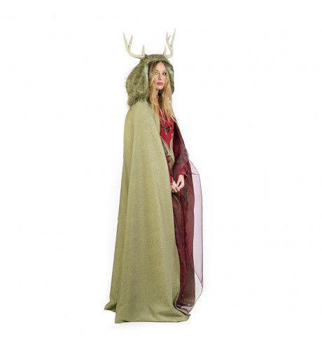 Cape Gallische Maretak Druide Deirdre Vrouw Kostuum