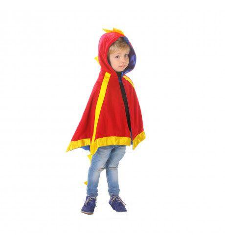 Cape Rode Vliegende Draak Kind Kostuum