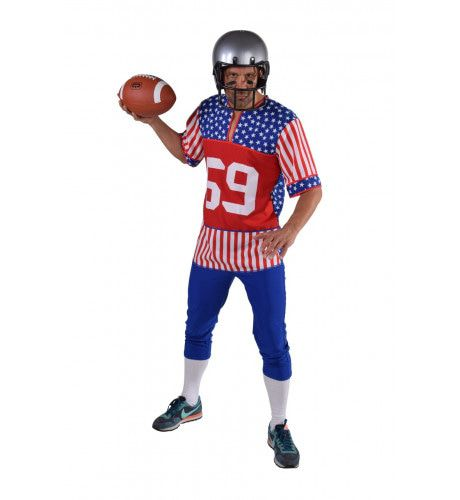 American Footballer Stars And Stripes Man Kostuum