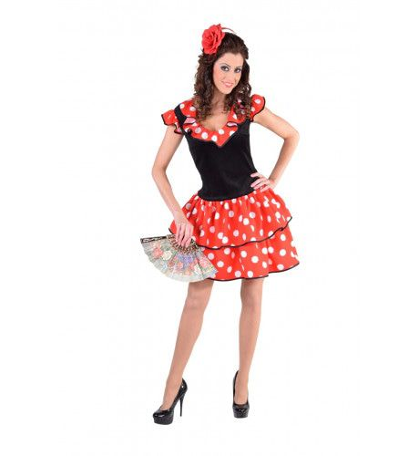 Spaans Flamenco Las Palmas Vrouw Kostuum