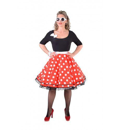 Rock & Roll Top Jaren 50 Zwart Vrouw Kostuum