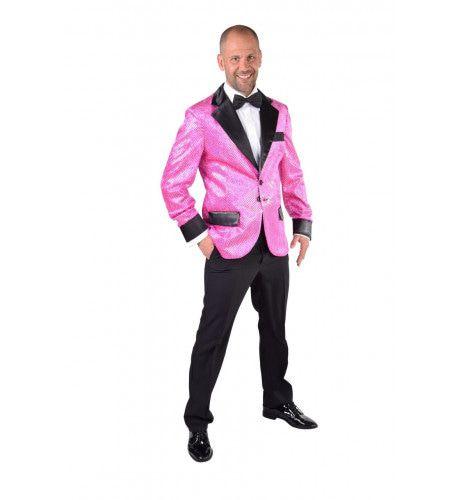Glitter Colbert Casino Royal Roze Man