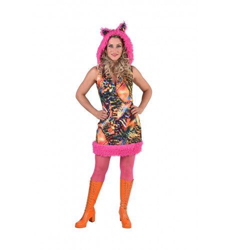 Woest Drukke Disco Tijger Vrouw Kostuum
