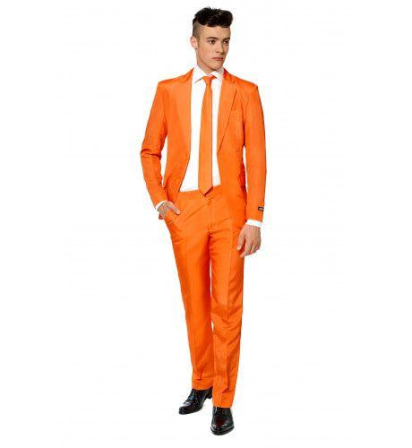 Heel Oranje Solid Orange Suitmeister Man Kostuum