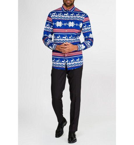 Kerst Overhemd Rudolf Met Lange Mouwen Man
