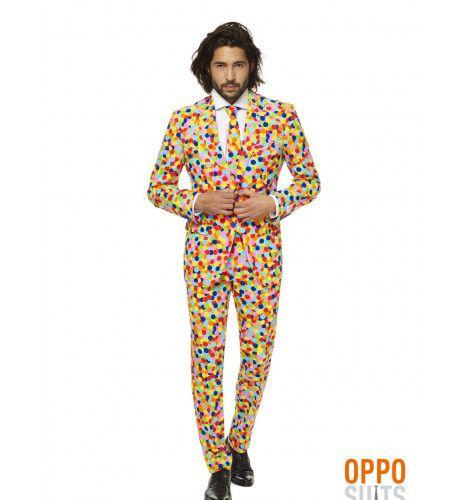 Lekker Druk Confetteroni Opposuit Man Kostuum