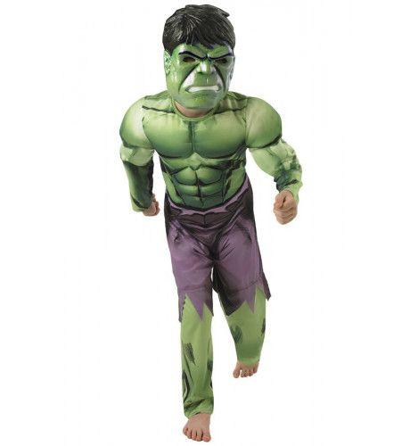 De Hulk Met Spierballen Jongen Kostuum