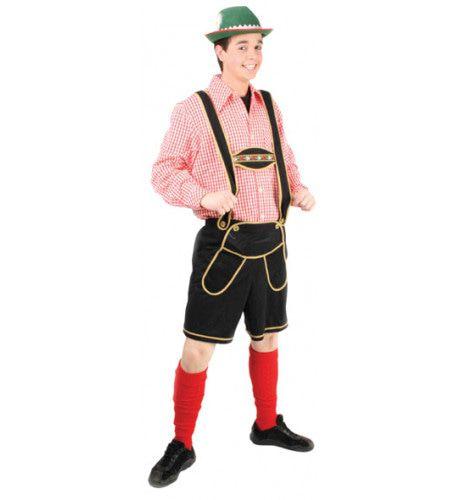 Heinrich Lederhose Zwart Kort Man Kostuum