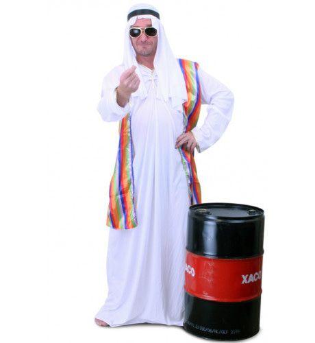 Sjeik Pesha Zayed Met Vest En Hoofddoek Man Kostuum