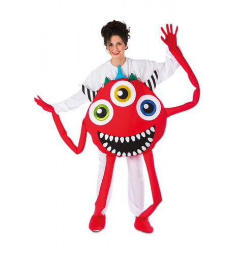 Maf Craze Monster Rood Kostuum