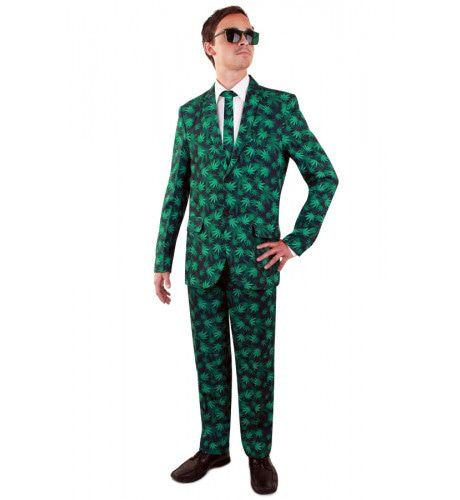 Smoking Wiet Bladeren Marihuana Man Kostuum