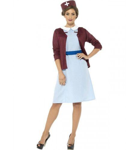 Strenge Verpleegster Jaren 60 Vrouw Kostuum