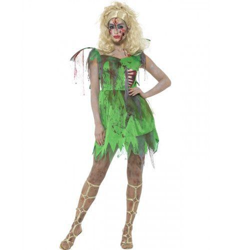 Gecrashte Zombie Fee Vrouw Kostuum