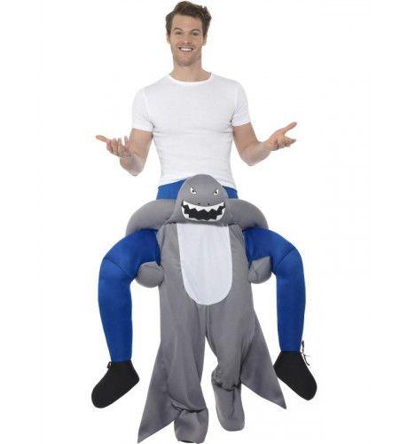 Op De Rug Van Een Bloeddorstige Haai Man Kostuum