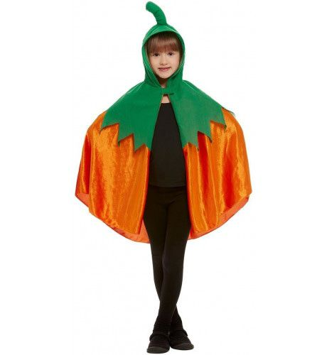 Oranje Cape Halloween Pompoen Kind