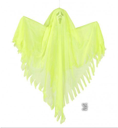 Deco Fluorescerend Geel Spook, 45 Centimeter